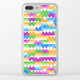 Triangle Tiles I Clear iPhone Case
