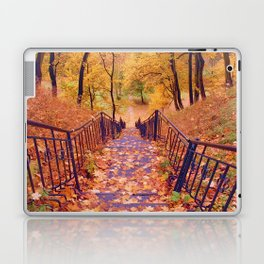 Stairs in the Fall Laptop & iPad Skin