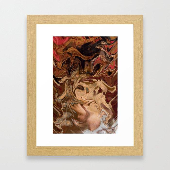 Sundae: two scoops of digital abstraction Framed Art Print