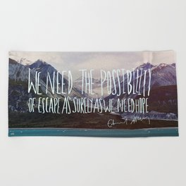 Escape x Alaska Beach Towel