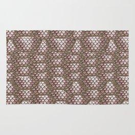Brown Snake Skin Pattern Rug