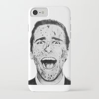 american psycho iPhone & iPod Cases featuring American Psycho by Aoife Rooney Art