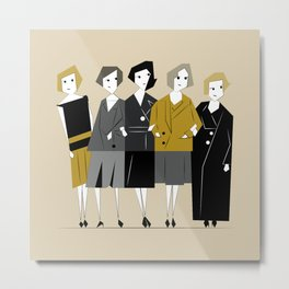 Meet the Bright Young Sisters Metal Print