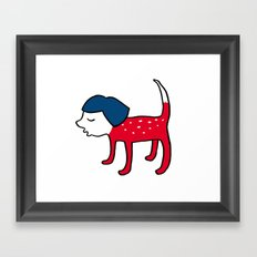 Dog-girl Framed Art Print