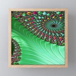 Carnival Green Framed Mini Art Print