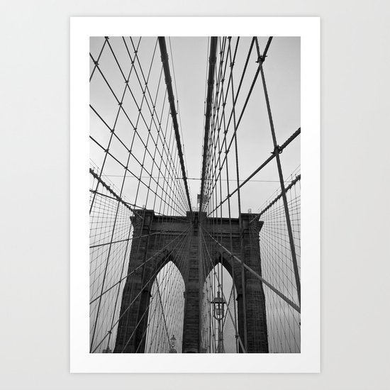 Meet me on Brooklyn Bridge Art Print