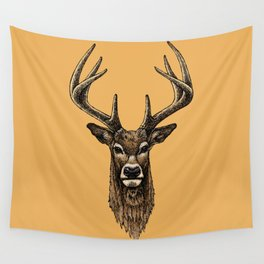 Golden Deer Wall Tapestry