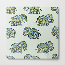 Indian elephants Metal Print