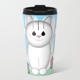 White Cat Travel Mug