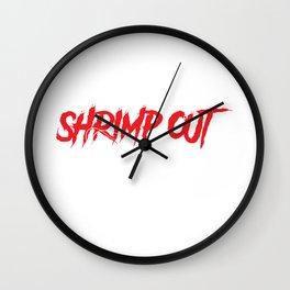 When In Doubt Shrimp Out Funny Jiu Jitsu MMA Gift graphic Wall Clock