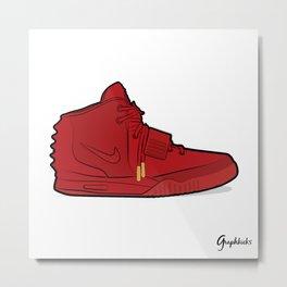 """Air Yzy 2 """"Red October"""" Metal Print"""