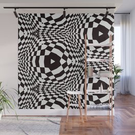 Black and White Optical Illusion Wall Mural