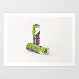 After We've Gone. Batteries Uno Art Print