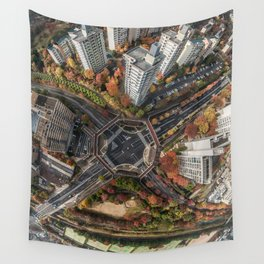 Kyoto Japan skyview Wall Tapestry