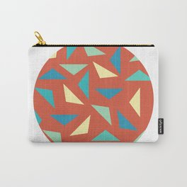 circular triangular Carry-All Pouch