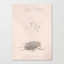 The Fly - Movie poster from David Cronenberg's classic horror film with Jeff Goldblum Canvas Print