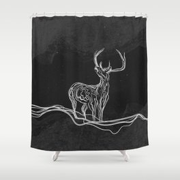 Mountain (Closer Than You Know) Black & White Shower Curtain