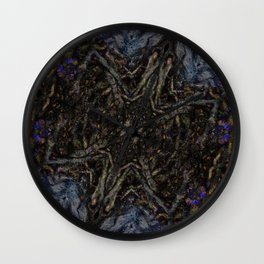 Tree Root Fractal Wall Clock