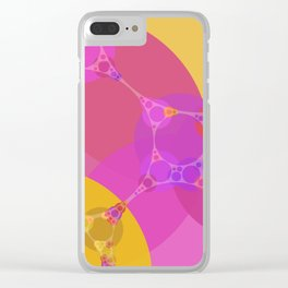 colbie - intense red fuchsia pink yellow purple abstract design Clear iPhone Case
