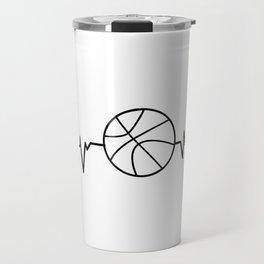 Heartbeat Basketball Sport Gift Travel Mug