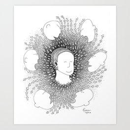 Let it flow Art Print