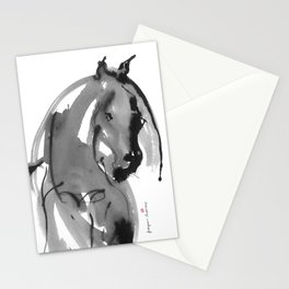 Horse (Juno ver. black) Stationery Cards
