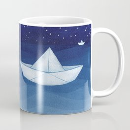 Paper boats illustration Coffee Mug