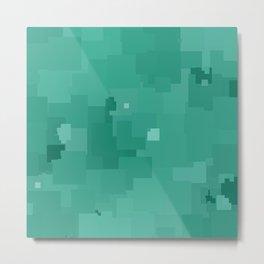 Lucite Green Square Pixel Color Accent Metal Print