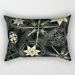 Ebony and Ivory Kabuki Rectangular Pillow