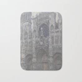 The Cathedral in Rouen. The portal, Grey Weather Bath Mat