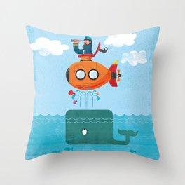 Whale Ahoy Throw Pillow