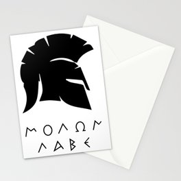 molon labe sparta Stationery Cards