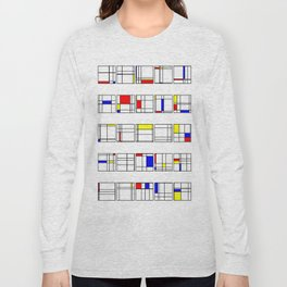 "Math Art Digital Print - ""mondRian"" Long Sleeve T-shirt"