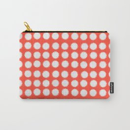 milk glass polka dots fiesta red Carry-All Pouch