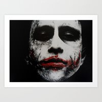 the joker Art Prints featuring Joker by waynemaguire777