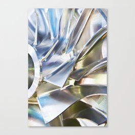 Blades of metal impeller Canvas Print