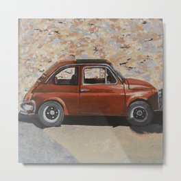 Fiat by a Castle Metal Print