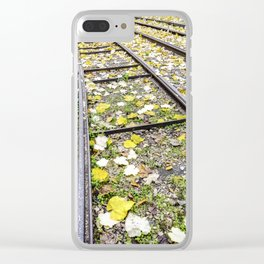 Park in the center of Turin in the autumn Clear iPhone Case