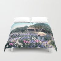 japanese Duvet Covers featuring Japanese Garden by PureVintageLove