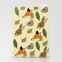woodland Stationery Cards featuring woodland by Melrose Illustrations