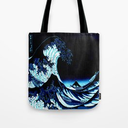 the Great Wave Blue Tote Bag