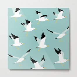 Flyng seagulls Metal Print