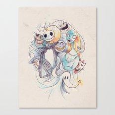 The Grim Bunch Canvas Print
