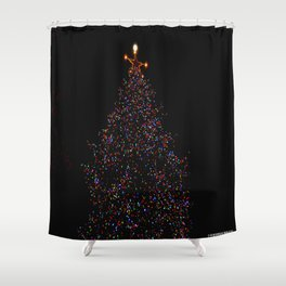 Full Moon Tree Topper (Chicago Christmas/Holiday Collection) Shower Curtain