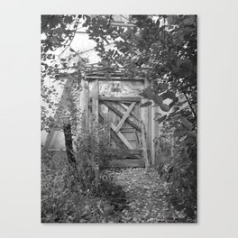 "Door to the deep down ""LIME"" Canvas Print"