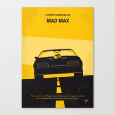 No051 My Mad Max 1 minimal movie poster Canvas Print