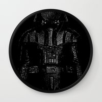 magritte Wall Clocks featuring Darth Magritte by Billy Allison