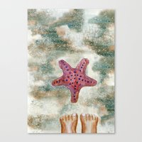 feet Canvas Prints featuring Feet by Geckojoy