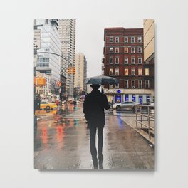 Man walking in New York Metal Print