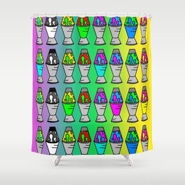 Lava Lamp Colorful Pattern Shower Curtain